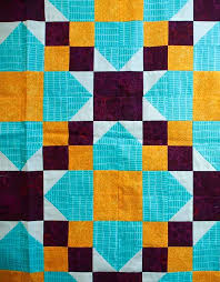 Triangles and triads in quilting | Tertiary color and Triangles & A triadic color scheme of tertiary colors Adamdwight.com