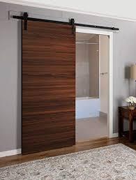 planum 0010 interior sliding flush panel modern closet wood barn door chocolate ash brown 24