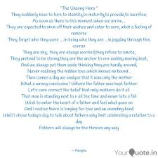 The Unsung Hero They S Quotes Writings By Anagha Sadavarte