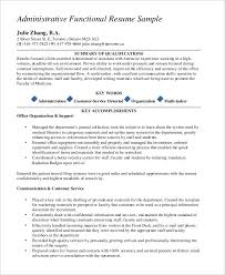 Functional Resume Templates Magnificent Administrative Functional Resume Functional Resume Examples