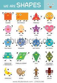 Shapes Chart For Nursery Kids Basic Shapes Chart Kindergarten Preschool Royalty