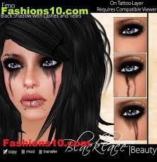 emo eye makeup black eye shadow emoo eye makeup fashions