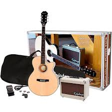 epiphone pr 4e acoustic electric guitar player pack
