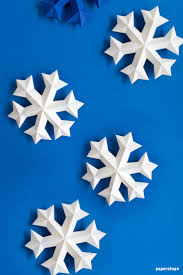 How To Make A 3d Snowflake How To Make 3d Snowflake From Paper Free Template Papershape