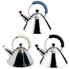 alessi michael graves kettle with small birdshaped whistle  gr