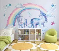 Wallpaper 3D Rainbow Unicorn Pegasus ...