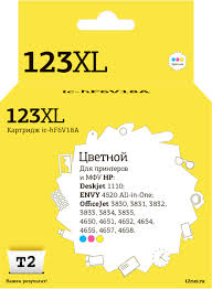 <b>Картридж T2 IC-HF6V18A</b> №123XL, голубой, пурпурный, желтый ...