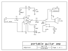 make a sweet portable guitar amp 6 steps pictures parts and schematic
