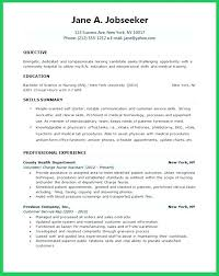 Resume Examples For Nursing Gorgeous Sample New Graduate Nurse Resume Example S Kindredsoulsus
