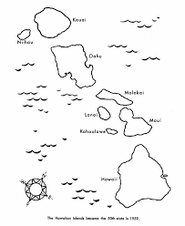 Usa Printables State Of Hawaii Coloring Pages Hawaii State Map