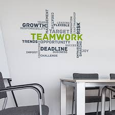 office deco. Paperflow Office Deco Wall Transfers, Teamwork 25\ A