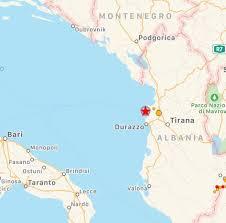 Forte terremoto in Albania, epicentro a Durazzo: scossa ...