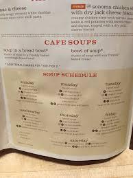 panera soup menu. Beautiful Soup Panera Soup Schedule For Soup Menu W