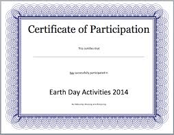 Event Participation Certificate Template Free Template