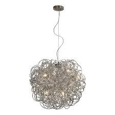 shop trend lighting mingle in w sparkled aluminum pendant light