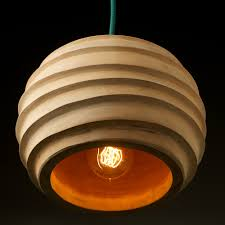 wood pendant light indoor
