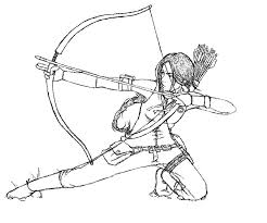 Small Picture Katniss The Hunger Games Coloring Page art Pinterest