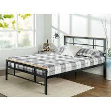 zinus metal and wood platform bed. Brilliant Bed Intended Zinus Metal And Wood Platform Bed E