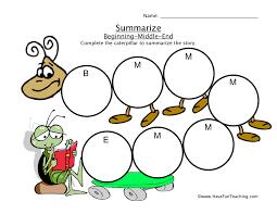 Summarizing Worksheets | Have Fun Teaching