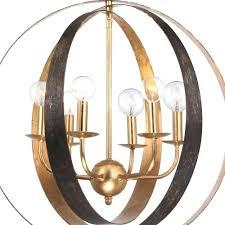 6 light bronze chandelier 6 light bronze gold sphere large chandelier sfera 6 light autumn bronze