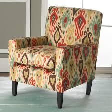 ikat accent chair.  Accent Colorful Ikat Arm Chair Multi Intended Accent A