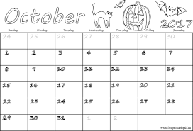 Printable October Calendar Printable October Calendar 2017 Aaron The Artist