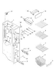 Cordial view on diagram freezer basket trim k as wells whirl kenmore elite side by refrigerator
