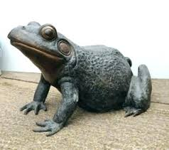 frog garden sculptures sculpture bronze toad statue art animal statues with solar lantern frog garden