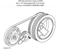 2003 chevy silverado serpentine belt diagram
