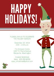 Free Christmas Invitation Templates Blank Christmas Invitation Templates For Free Halloween Holidays 23