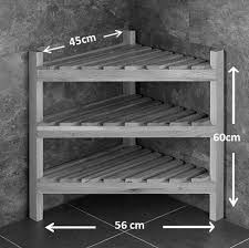60cm tall solid oak corner shelving unit tv cabinet bedroom storage shelf unit