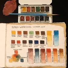Rublev Oil Paint Color Chart Just Beginning To Explore My New Rublev Watercolor Set
