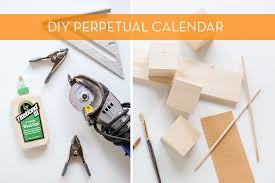 modernize your boring desk with this diy giant wood block calendar