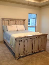 Distressed Headboard and Footboard Made From Two Old Doors ...