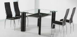 Kitchen Table Glass Top Glass Top Dining Table Chairs Decoration Glass Top Tables And