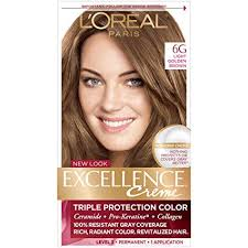 Loreal Paris Excellence Creme Permanent Hair Color 6g Light Golden Brown 100 Gray Coverage Hair Dye Pack Of 1