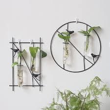 simple bird metal frame hanging planter