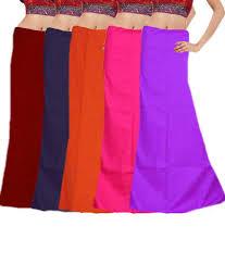 Javuli Pure Cotton 7 Part Saree Petticoat Inskirt Set Of 5