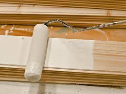 painting wood plank
