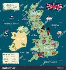 cartoon map of united kingdom