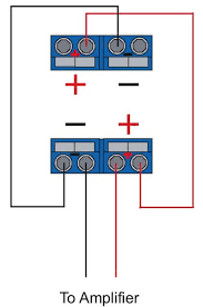 wiring 1 dual 4 ohm vc sub to 2 channel amp ecoustics com  at Car Amp Wire Diagram 4 Omh To 2 Omh