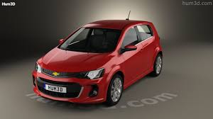 360 view of Chevrolet Sonic hatchback RS 2017 3D model - Hum3D store