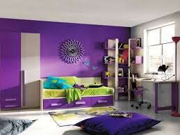 purple kids room color scheme ideas with green accent