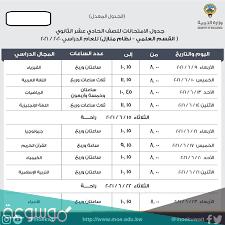 جدول امتحانات الثانوية العامة 2021 الكويت – موسوعة نت