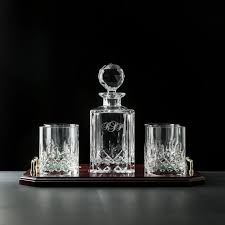 personalized galway crystal longford decanter 4 glasses