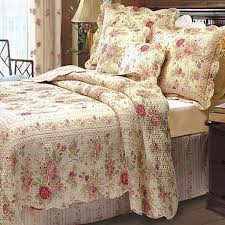 romantic chic shabby cottage rose 5pc quilt set french country
