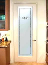 glass pantry door black