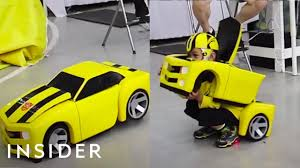Costumes Turn <b>Kids</b> Into Transformers - YouTube