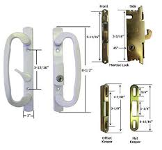 sliding glass patio door handle kit mortise lock and keepers b position white 1 of 1free