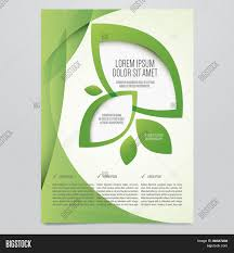 vector eco flyer poster brochure magazine cover template vector eco flyer poster brochure magazine cover template modern green leaf